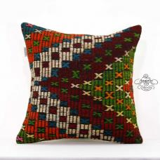 "Rustic Decoration 20x20"" Pillow Cover Handwoven Kilim Cushion Sham Floor Throw"