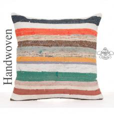 "Colorfull Bohemian Kilim Cushion Cover 24x24"" Home Decor Floor Throw"