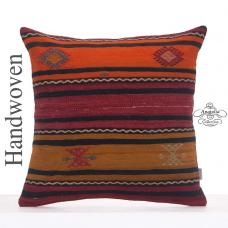 Ethnic Decorative Kilim Pillowcase 24x24 Large Floor Throw Rug Cushion