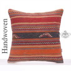 Colorful Kilim Pillowcase Vintage Large Rug Cushion Sofa Floor Throw