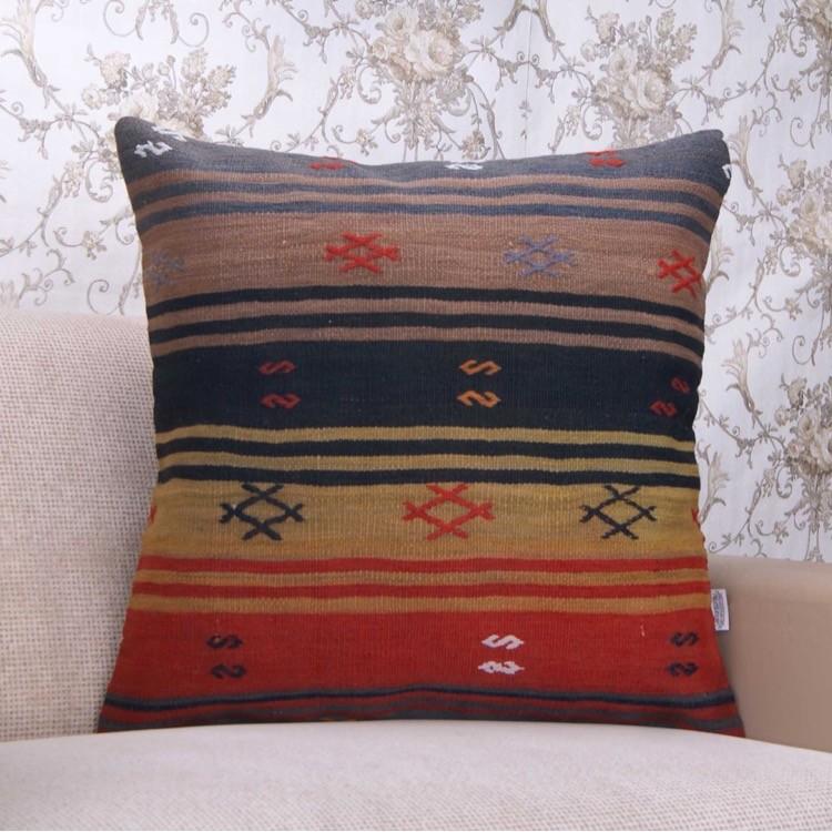 Striped Large Decor Throw Pillowcase Handmade 24x24 Quot