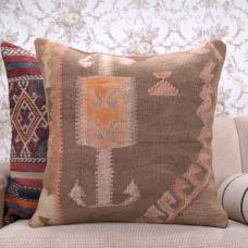 "Eastern Vintage Kilim Pillowcase 24x24"" Decorative Floor Throw Pillow"