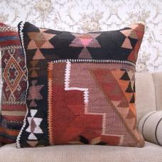 "Tribal Retro Kilim Pillow 24x24"" Handmade Eastern Rug Throw Pillowcase"