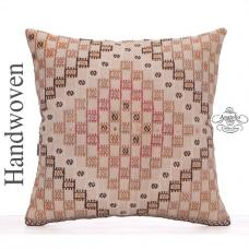 "Designer Kilim Cushion 26"" Large Turkish Embroidered Rug Throw Pillow"