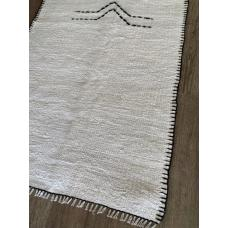 2' by 3' White Hemp Rug Kilim Vintage Turkish Handmade